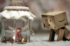 Danbo with fairy in a jar